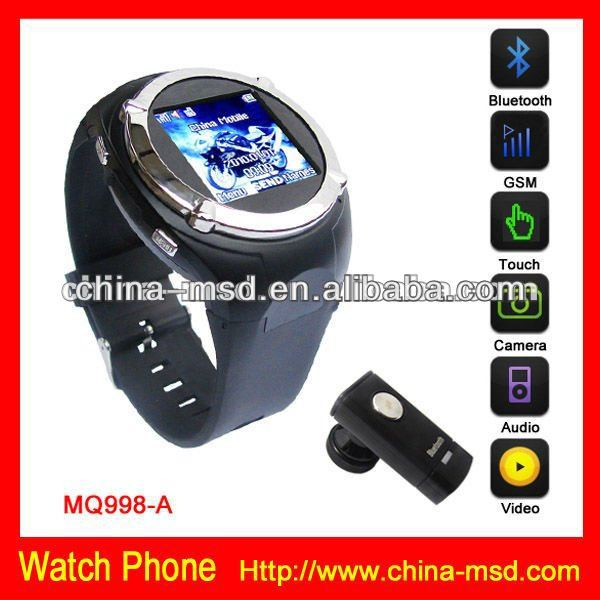 touch screen lowest price mobile phone watch with bluetooth functon