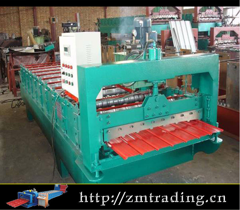 Popular Type Galvanized Steel Roof Tile Cold Roll Forming Machine Roll Former corrugated iron sheet roll former