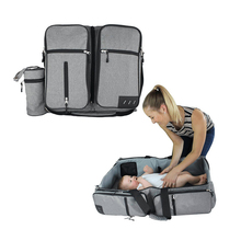 3 in 1 Diaper Bags Portable Crib Changing Station & Travel Bassinet Baby Travel Bed
