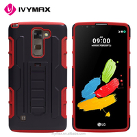 New stylish high quality rugged hard robot phone cases back cover stand holder kickstand case for LG Stylo2 PLUS