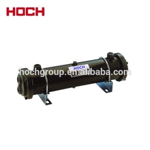 Yuken type oil cooler, scraped surface heat exchanger shell and tube