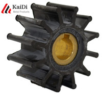 Export customized precision EPDM rubber impeller of pump