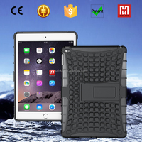 2 in 1 Shockproof TPU+PC unbreakable case for ipad air/hybrid kickstand case cover for ipad air 2