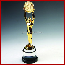 2015 Super Hight Quality Custom Metal replica oscar trophy awards buy Oscar trophy with crystal base