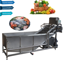 Fruit vegetable bubble washing cleaning machine