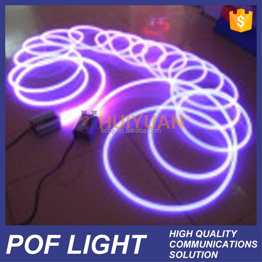 HUIYUAN China manufacturer lighting plastic optical fiber cable