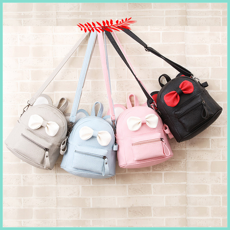 S31897W Fashion Grade1-6 Breathable Children Primary Sweet Bowknot School Bags For Girls