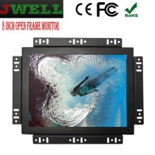 8 inch high brightness with customizable and changeable metal open frame LED digital signage monitor