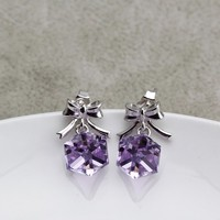 OUXI butterfly shaped violet 925 sterling Silver&crystal cheap silver jewelry for wholesale from china Y20016