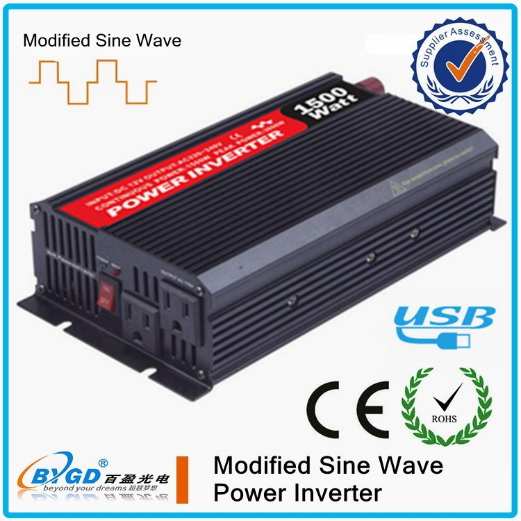 1500W Solar Inverter Dropshipping Price DC to AC 12V/24V 220V Charge Power Inverter