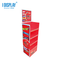 Popual Commercial Paper Display Stand For Snack , Hot Sale Corrugated Paper Display Stand