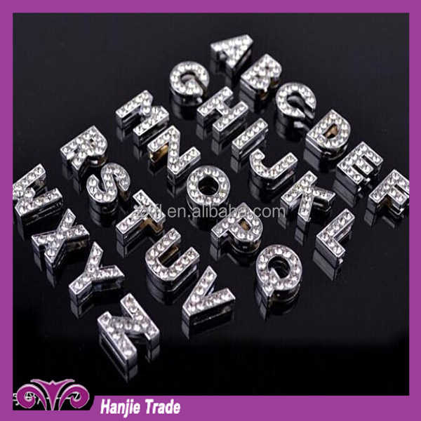 In stock Fashion DIY A rhinestone slider letter for bracelet jewelry accessary