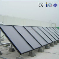 Blue coating flat plate concentrated solar power collectors for rooftop or balcony