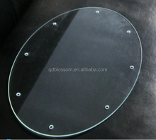 2mm 3mm 3.2mm 4mm 5mm 10mm 12mm thick tempered glass Round toughened clear glass sheet for windows cover wholesale