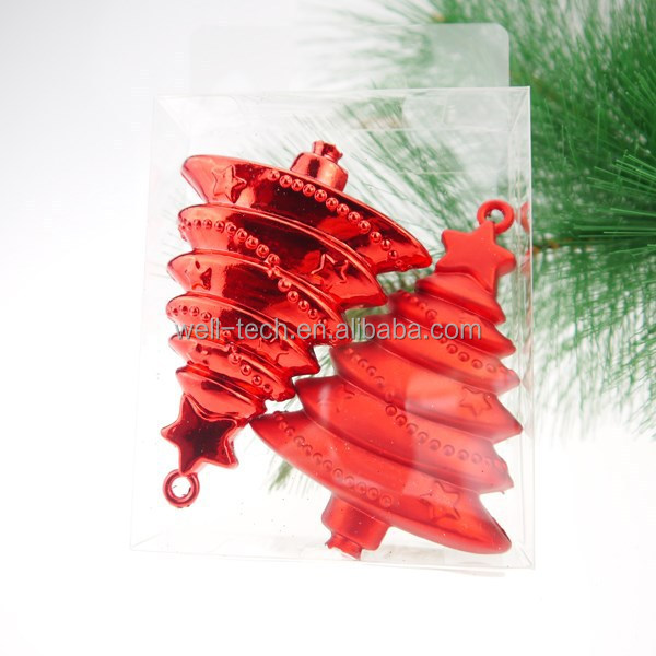 2015 blow mold tree shape Christmas ornament
