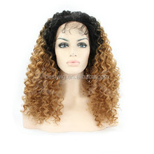 2015 factory synthetic kinky curly lace front wig