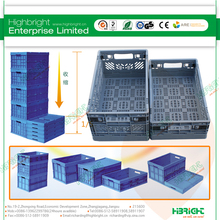 mesh plastic foldable crate for apples
