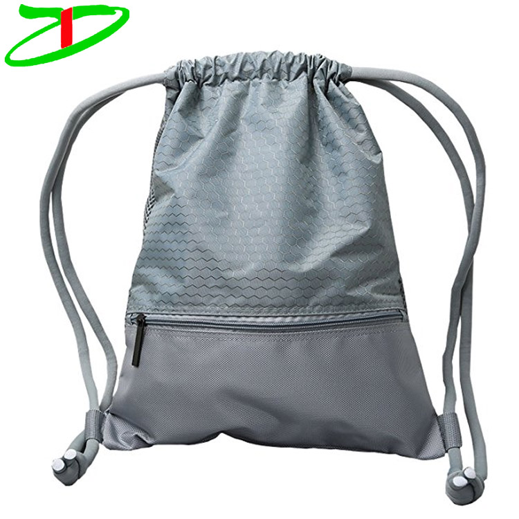 Durable Waterproof Sack Pack Draw String Backpack Sports Lightweight Pull String Bag
