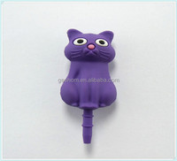 Custom Soft PVC Cat Shape Dust Plug For Android Mobile Phone 3.5mm plug