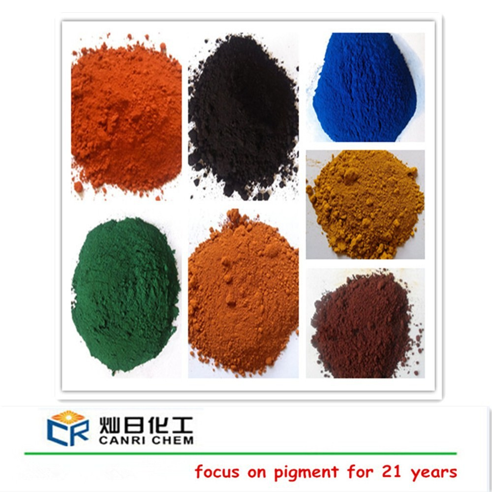 Top quality different color fe2o3 iron oxide type brown pigment