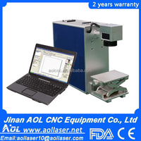AOL factory direct sale fiber laser marking machine for sale laser metal engraving machine phone case