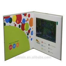 "7"" LCD hardcover video mailer for ads,7inch video card paper"