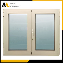 Mill Finish Aluminum Frame Tempered Glass Exterior Window