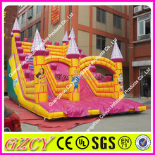 Commercial sport inflatable dry slide, bouncy inflatable slip and slide