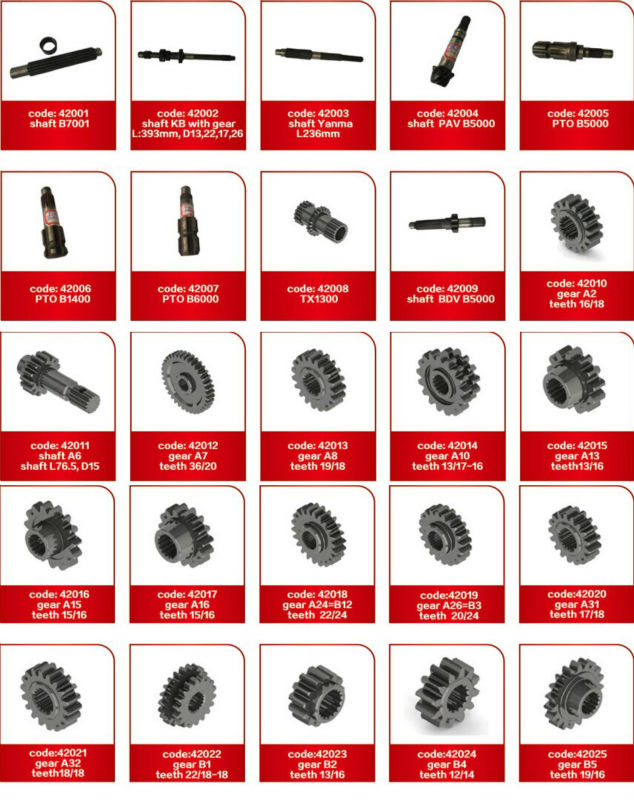 Japanese small tractor transmission parts