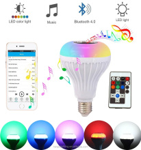 Color Changing Smart Bluetooth Light Bulb Speaker 12W RGB Music Play LED Lamp + Remote Wireless