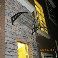 Modern outdoor polycarbonate aluminum black bracket canopy, front door used awnings for sale