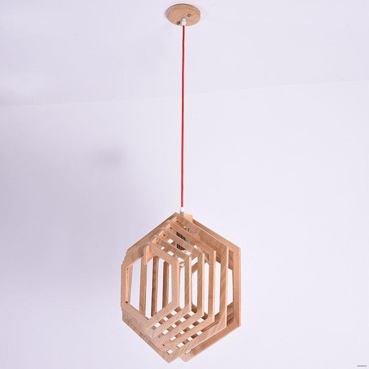 New wholesale latest funny wood hanging light for stores
