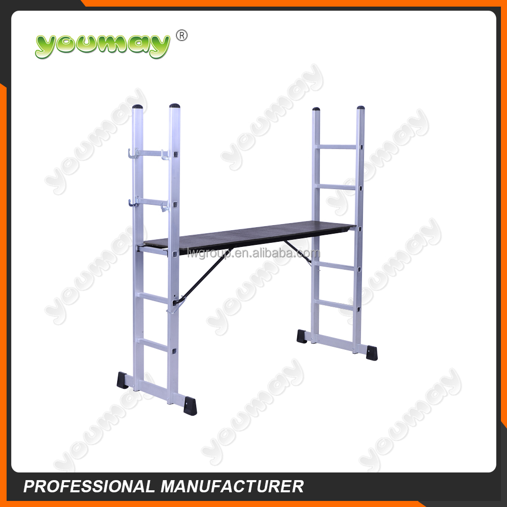 EN131 Approved aluminum scaffolding system with plywood platform AM0407A