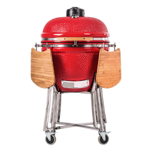 Great Quality Garden Pizza maker grill Ceramic Barbecue grill - In Red