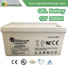 Gama Solar gel battery 12v for complete system with safety certificates