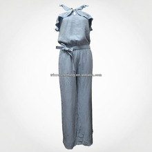 Newest Designs Ladies Casual Long Jumpsuit Summer Fashion 2018