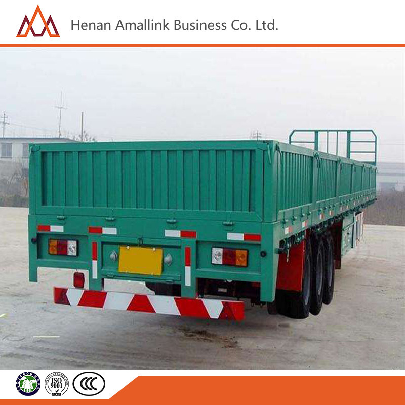 3 Axles Bulk Cargo Transport Sidewall Semi Trailer with Container Locks