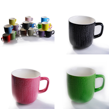 Wholesale linyi Manufactured Glazed Ceramic Tea Cup with Custom Printing for Belly Shape Promotion Tea Cup