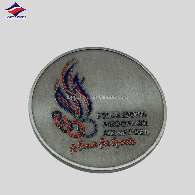Promotional eagle copper coin