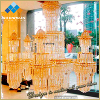 Hall decoration design crystal chandelier for project