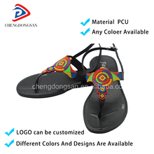 Indian Medical Plastic Fancy Flat Asian Style Mule Jelly High Shoes Leather Fashion Flat Summer Walking Sandals 2017 For Women