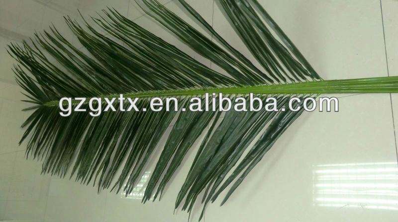 2014 hot sale high quality artificial palm tree branches and leaves