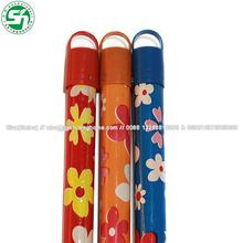 1200*22mm PVC coated wooden broom hanlde/ wooden sweep handle/ wooden broom stick