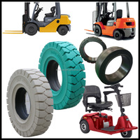 high quality solid tires 18x7-8, China cheap three wheel scooter and toyota forklift parts