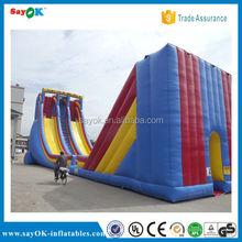 2015 giant big kahuna inflatable double lane slip water slide for adult