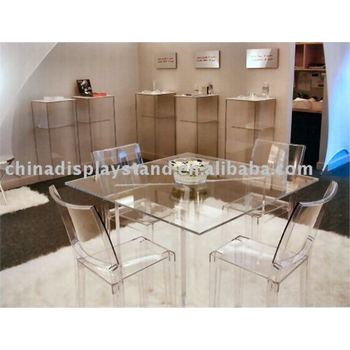 Acrylic Table And Chair/ furniture