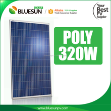 Bluesun aluminum extrusion solar panel frame poly 320w with q-cells solar panel