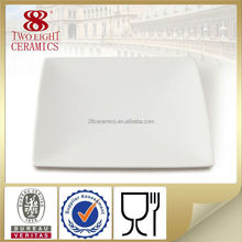 ceramics manufacture wholesale bone china white square shape dinner plate