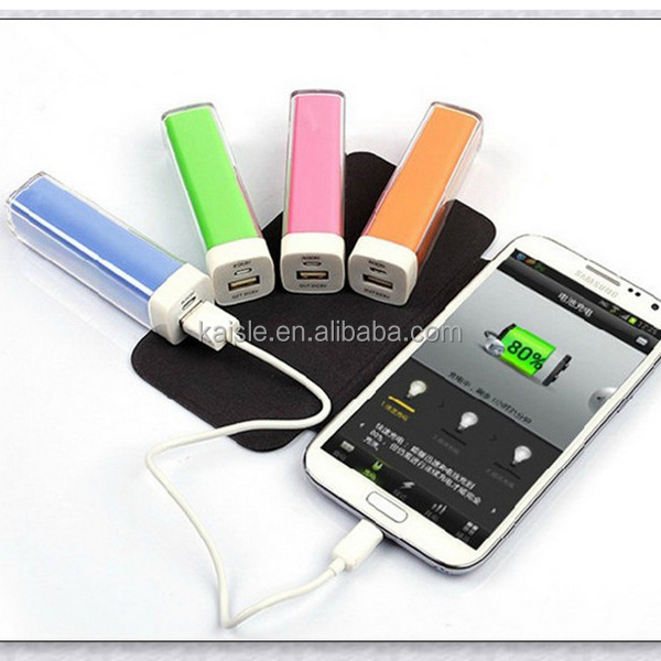 wholesale lipstick Power Bank 2600mah external USB battery charger for samsung/iphone/samrtphones