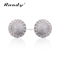Cubic Zirconia Round 925 Sterling Silver Stud Earrings